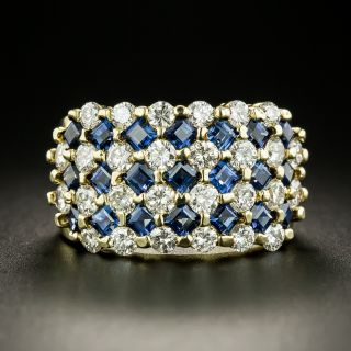 Diamond and Sapphire Band Ring - 2