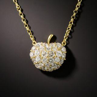 Diamond Apple Pendant - 1