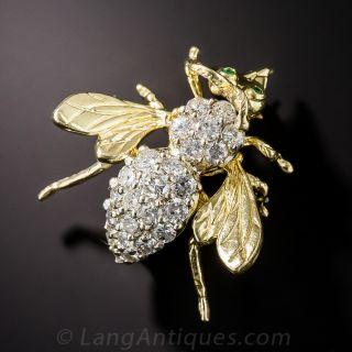 Diamond Bee Pin - 2