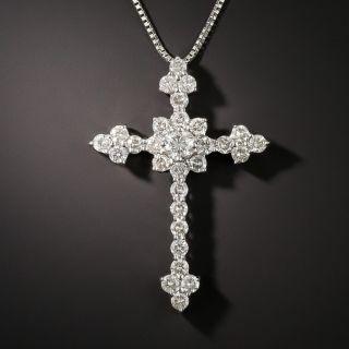 Diamond Cross Pendant Necklace - 1