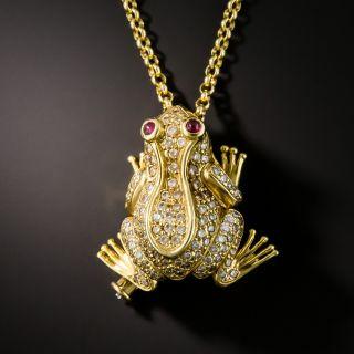 Diamond Frog Pin / Necklace