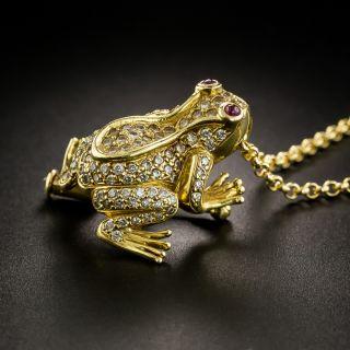 Diamond Frog Pin / Necklace - 3