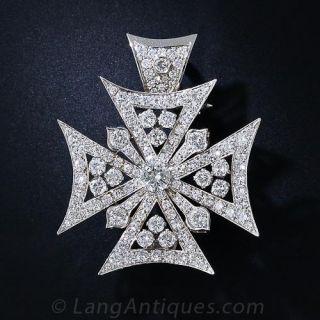 Diamond Maltese Cross - 1