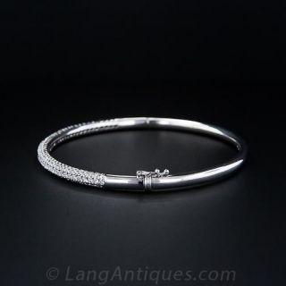 Diamond Pave Bangle Bracelet