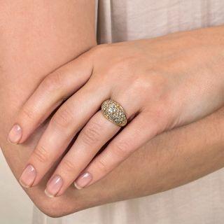 Diamond Pavé Ring with .45 Carat Center Diamond