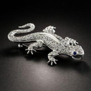 Diamond Salamander Brooch