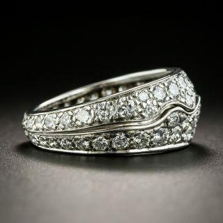 Diamond Wave Band Ring - Size 5 1/2