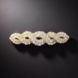 Diamond Weave Brooch, 5.46 Carat Total Weight  - 1