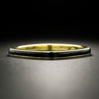 Dinh Van for Cartier Black Enamel Square Band - Size 10 1/4.