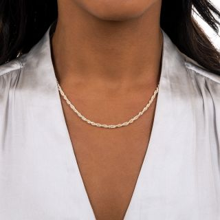 Double-Twisted Seed Pearl Strand Necklace
