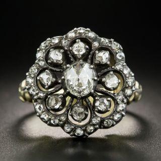 Dutch Georgian Style Rose-Cut Diamond Cluster Ring - 2