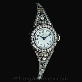 Early-1900-s-Diamond-Wrist-Watch---Main-View