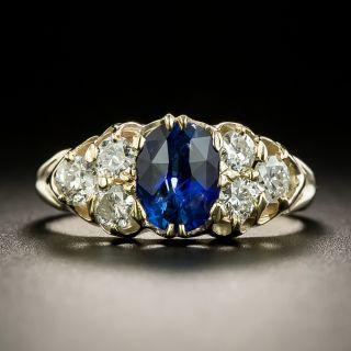 Early 1900s 1.23 Carat Ceylon Sapphire and Diamond Ring - 2