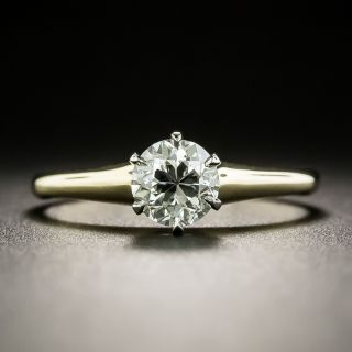 Early 20th Century .75 Carat Solitaire Diamond Ring - GIA H VS2 - 2