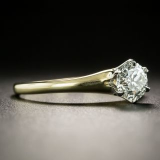 Early 20th Century .75 Carat Solitaire Diamond Ring - GIA H VS2