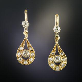 Early 20th Century Diamond Drop Earrings - 2