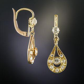 Early 20th Century Diamond Drop Earrings