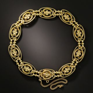 Early 20th Century French Floral Motif Bracelet - 2