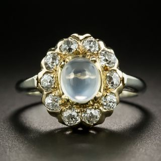 Early 20th Century Moonstone Diamond Ring - 2