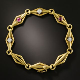 Early 20th Century Ruby and Diamond Bracelet - 2