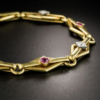 Early 20th Century Ruby and Diamond Bracelet