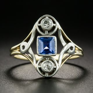 Early 20th Century Sapphire and Diamond Ring - 2