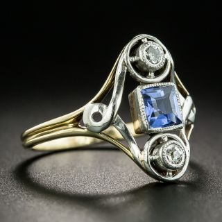 Early 20th Century Sapphire and Diamond Ring
