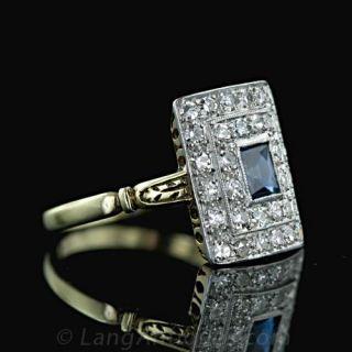 Early 20th Century Sapphire & Diamond Ring