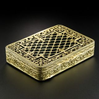 Early 20th Century Shreve & Co Engraved and Enamel Box