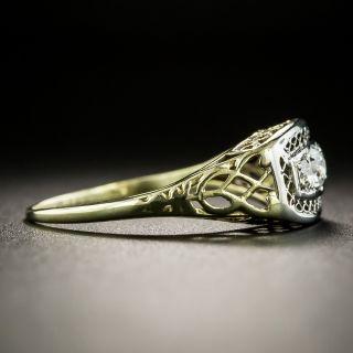 Early 20th Century Three-Stone Diamond Ring