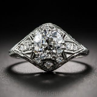 Early-Art Deco 1.57 Carat Diamond Engagement Ring - GIA H VS2 - 1