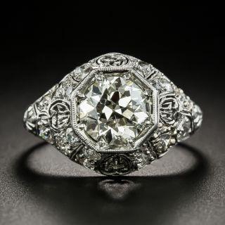 Early Art Deco 1.83 Carat Diamond Engagement Ring - GIA N SI2 - 1
