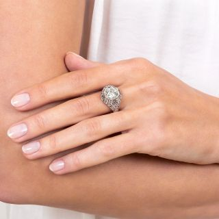 Early Art Deco 1.83 Carat Diamond Engagement Ring - GIA