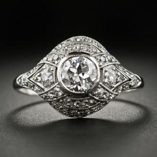 Early Art Deco .55 Carat Diamond Engagement Ring - 6