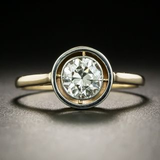 Early Art Deco .85 Carat Diamond Engagement Ring - 2