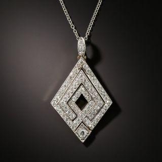 Early Art Deco Diamond Pendant - 2