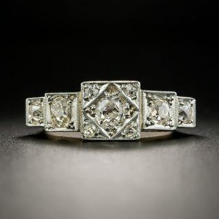 Early-Art Deco Five-Stone Diamond Ring - 2