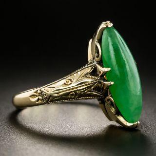 Early Mid-Century Natural Burmese Jade Ring