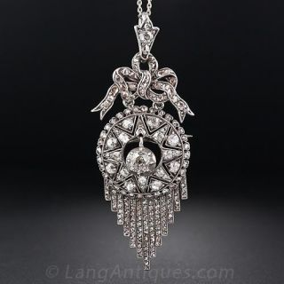 Early Victorian Diamond Fringe Pendant-Brooch