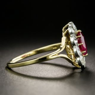 Edwardian 1.01 Carat Burmese Ruby and Diamond Ring