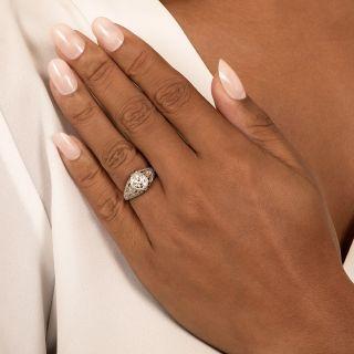 Edwardian 1.01 Carat Diamond Filigree Ring - GIA H SI2