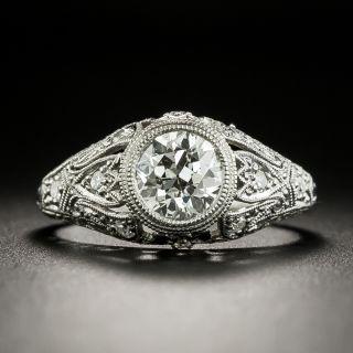 Edwardian 1.01 Carat Diamond Filigree Ring - GIA H SI2 - 2