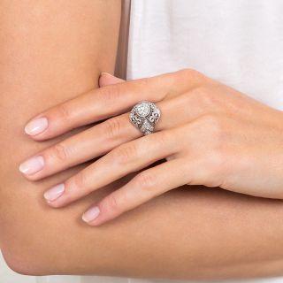 Edwardian 1.37 Carat Diamond Platinum Ring - GIA I VS1