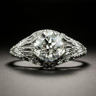 Edwardian 1.41 Carat Diamond Engagement Ring - GIA H VS2 - 5