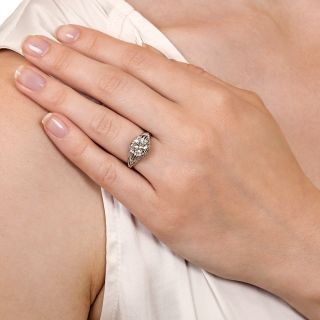 Edwardian 1.41 Carat Diamond Engagement Ring - GIA H VS2