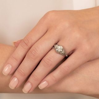 Edwardian 1.48 Carat Diamond Engagement Ring - GIA L VVS2