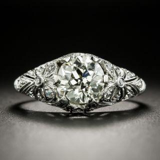 Edwardian 1.48 Carat Diamond Engagement Ring - GIA L VVS2 - 2
