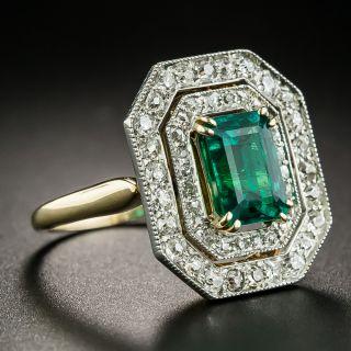 Edwardian 1.54 Carat Emerald and Diamond Ring