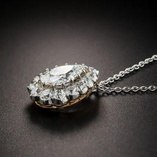 Edwardian 1.60 Carat Pear Shape Diamond Drop
