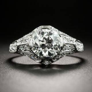 Edwardian 1.64 Carat Diamond Engagement Ring - GIA H VS1 - 1